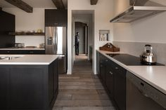The Modern Farmhouse - Northern Wide Plank Corp Kitchen Flooring, Wood Flooring, Floors, Clean Space, Wide Plank, Modern Farmhouse, New Homes, Contemporary, Architecture