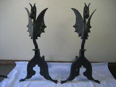 Dragon andirons