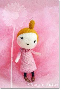 羊ごとだったり・・・cute felt kawaii art doll figure