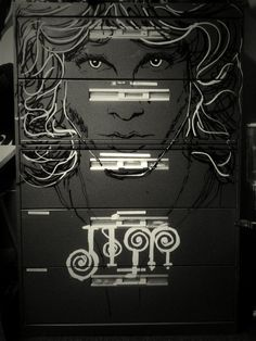 Jim Morrison 5ft Drawer/File Cabinet by Sweetdealz4u on Etsy, $300.00