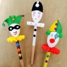 marionnette en cuillères en bois