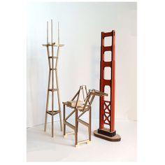 San Francisco decoration Aluminum Sutro Tower Container Crane Golden Gate Bridge