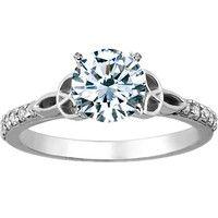 brilliant earth conflict-free diamonds, 18K white gold luxe celtic love knot