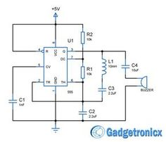 Building voltage doubler circuit diagram or schematic to double the input voltage fed. Timer IC 555 to double the input voltage using capacitor and diode Robotics Engineering, Computer Engineering, Electronic Engineering, Electrical Engineering, Dc Circuit, Circuit Design, Circuit Diagram, Hobby Electronics, Electronics Projects