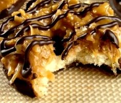 Samoas Cookies This is a recipe for the famous girlscout cookies originally named Samoas but are now referred to as caramel de-lites
