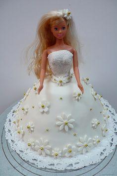 white wedding barbie cake by CAKE Amsterdam - Cakes by ZOBOT, via Flickr