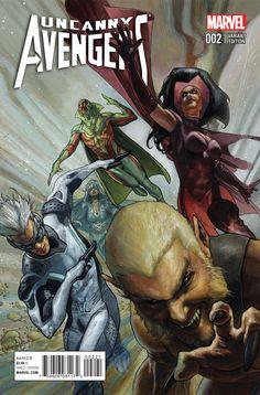 Uncanny Avengers Vol. 2 # 2 (Variant) by Simone Bianchi Marvel Comics Art, Marvel Comic Books, Marvel Dc Comics, Marvel Heroes, Comic Books Art, Comic Art, Book Art, Ms Marvel, Captain Marvel