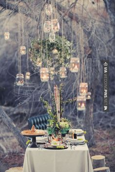 hanging mason jars…LOVE!