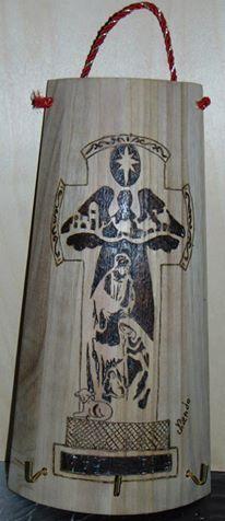 Coppo - Croce  - Presepe Pawlonia cm 18 base 13,5 sopra 30 altezza