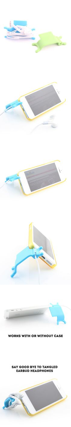 iPhone 5 Stand and Earbuds Organizer http://www.usbgeek.com/products/iphone5-stand-earbuds-organizer