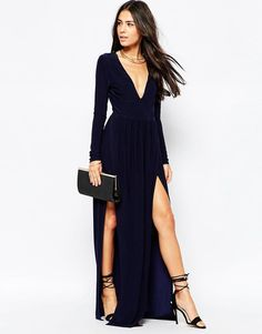 Asos club l black dress formal