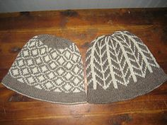 Ravelry: 2-Color Hats pattern by Mary Kate Long /// free pattern ... DK wgt ... no yardage given