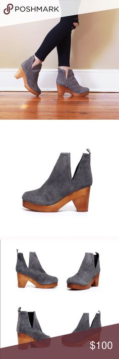 Jeffrey Campbell Odelia Booties These booties are previously loved but in great condition otherwise! Slightly scuffed on the right foot near the toe. Suede upper. Wood bottom. Leather lining. Man-made sole. True to size. Jeffrey Campbell Shoes Ankle Boots & Booties