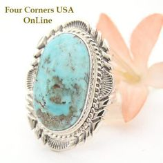 Four Corners USA Online - Size 7 1/2 Dry Creek Turquoise Large Stone Ring Thomas Francisco Navajo Silver Jewelry NAR-1466, $245.00 (http://stores.fourcornersusaonline.com/size-7-1-2-dry-creek-turquoise-large-stone-ring-thomas-francisco-navajo-silver-jewelry-nar-1466/)