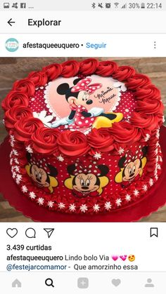 26 Ideas Cake Decorating Ideas Disney Frozen Birthday For 2019 Minnie Mouse Birthday Decorations, Minnie Mouse Cookies, Mickey Mouse Cake, Minnie Mouse Cake, Disney Frozen Birthday, Mickey Mouse Birthday, Brithday Cake, Bolo Mickey, Disney Cakes