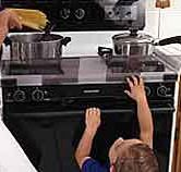 ARTICLE: Kitchen safety for children - child safety - # - Child Health - . Home Safety, Child Safety, Children Health, Kids Health, Kitchen Safety Tips, Stove Guard, Safety Classes, Childproofing, Child And Child