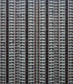 Mind-boggling: Photographer Michael Wolfs incredible shots capture the extreme scale of skyscrapers in one of the worlds most densely populated places; Hong Kong