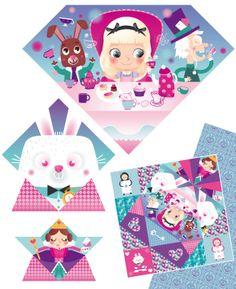"""Alice au pays des merveilles """"Mes origamis magiques"""" Editions Fleurus / Stéphanie Rousseau"""