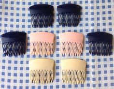 French 1950s 1960s Vtg Rockbilly Lucite Hair Combs Lot of 8 New from France…