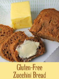 Gluten Free Zucchini Bread Recipe ~ This recipe is free of gluten, wheat, dairy, eggs, nuts, and more, making it a good allergy-friendly way to use zucchini. But if you want to use wheat flour or eggs, instructions are also provided! | The Happy Housewife