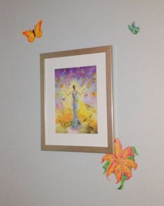 Wall-art  Jlynncreates --- a little twist to another's creation.   Springtime !