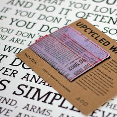 Original Gift Set - Our Original Manifesto (18X24) and our Upcycled Wallet in Purple sold together for just $54.00!