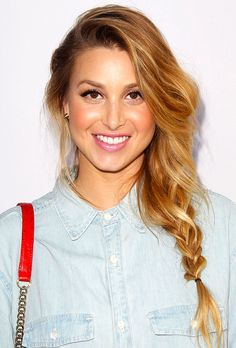 Whitney Port's side ponytail is a trendy hairstyle that's easy to pull off.