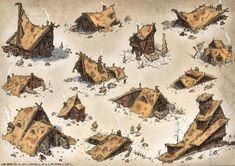 Witch House - Exploration, Gabe Kralik on ArtStation Concept Art Landscape, Fantasy Landscape, Fantasy Artwork, Espace Design, Rpg Map, Medieval Houses, Building Concept, Modelos 3d, Fantasy House