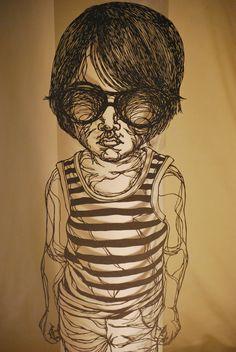 Hiromi Moneyhun papercutting, Jax Beach, Florida