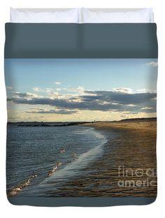 932 D948 Salisbury Beach Duvet Cover by ROBIN LEE MCCARTHY PHOTOGRAPHY