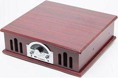 58b57340a8c68 Vinyl Record Player Turntable Vintage Retro Style AM FM USB SD MP3 Encoding  RCA  TechPlay