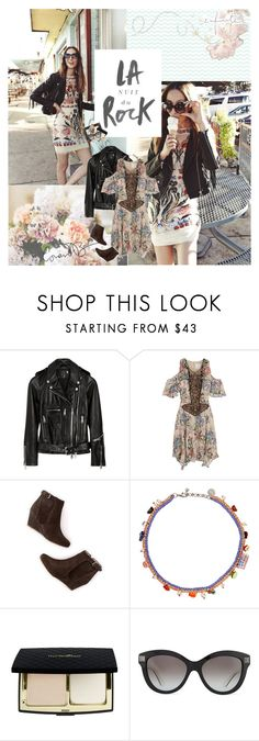 """""""we don't have to be ordinary ♥ top set 1.9.15"""" by pandacubcake ❤ liked on Polyvore featuring R13, Anna Sui, Boden, Venessa Arizaga, Valentino, StreetStyle, prints, leatherjacket, colorful and photoshoot"""