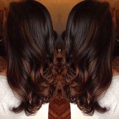 Resultado de imagen para espresso brown hair with cinnamon, mocha soft balayage