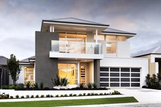 The schofield © ben trager homes perth display home modern f Modern House Plans, Modern House Design, Building Design, Building A House, Two Storey House, Small Modern Home, Facade House, House Facades, Dream Home Design