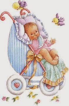 Place baby in a pram.in a box or book Baby Images, Baby Pictures, Cute Pictures, Decoupage, Baby Shower, Baby Girl Clipart, Cute Clipart, Baby Christening, Baby Birth