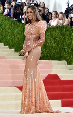 Latex Gown by Givenchy Worn by Beyoncé at Met Gala
