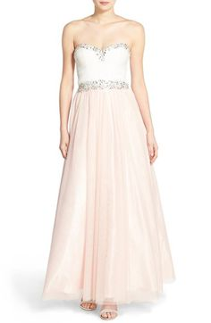 74e79c26f Bee Darlin Embellished Strapless Gown available at #Nordstrom Strapless  Dress Formal, Prom Dresses,
