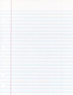 School Smart Cursive Ruled Notebook Paper with Red Margin, 10-1/2