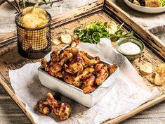 Kyllingklubber med aioli og chips