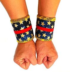 3bc69171ed Wonder Woman Cotton Ripstop Wrist Wraps ** Click image for more  details-affiliate link.