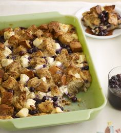 This is delicious any time of year with blueberries and cinnamon -- Impress the family (or treat yourself) with this Blueberry Strata.
