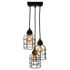 Metal Cage S/3 Pendant - The Industrial Shop™