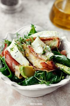 Avocado, Spinach and Goat's Cheese Salad