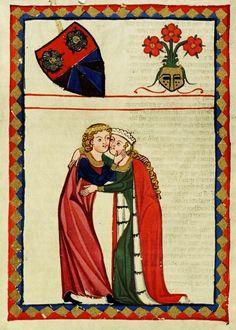 Codex Manesse, Der von Johansdorf, Bibliotheca Palatina in Heidelberg