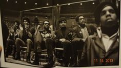 """Left to right: Bunchy Carter, Carver Chico Nesbit, Kwame Ture (Stokely Carmichael), Imam Jamil Abdullah Al-Amin (H. Rap Brown), and Bobby Seale, Los Angeles, Memorial Sports Arena Los Angeles, CA  Source: """"Black Panthers: 1968"""" by Howard L. Bingham — in Los Angeles, California."""