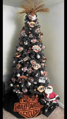 Harley Davidson tree! Done by my amazing mother! She knows how to make my dad happy at Christmas!