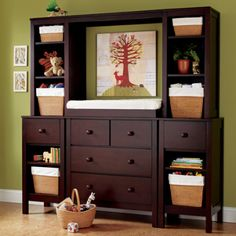 Another pinner said:  ok I'm definitely not getting rid of my entertainment center! saving it for baby #2 :)