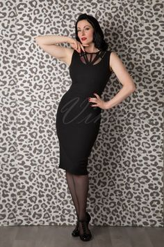 Daisy Dapper Stella Pencil Dress Black 100 10 16040 20150925 0004 WM