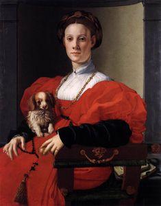 PONTORMO, Jacopo Portrait of a Lady in Red 1530s Oil on wood, 90 x 71 cm Städelsches Kunstinstitut, Frankfurt