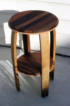 Wine Barrel End Table